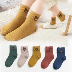 5双装小学生男女童小熊短袜