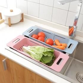厨房水槽沥水置物架可伸缩水池洗碗洗蔬菜水果收纳筐