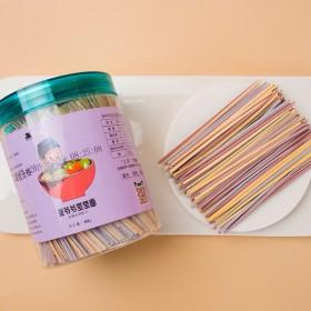 共900克果蔬面3罐装宝宝面条婴儿辅食无添加不加盐