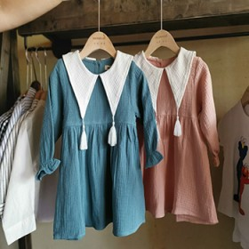 女童秋装新款长袖连衣裙