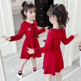 女童连衣裙长袖2019秋装新款学院风女孩公主裙
