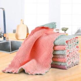 【包邮】5条装 厨房洗碗巾懒人抹布珊瑚绒不沾油洗碗