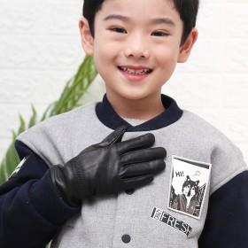 儿童冬季真皮手套
