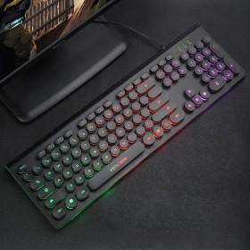 时尚朋克商务游戏有线键盘电脑笔记本通用