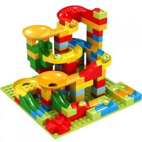 165粒小颗粒滑道积木男孩子儿童拼装益智女孩玩具