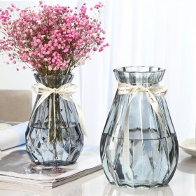 【二件套】玻璃干花透明花瓶欧式水培