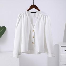 商场品牌特价秋清仓白色62702不退换衬衫上衣
