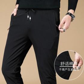 秋季黑色裤子男运动裤男士秋冬加厚款韩版潮流休闲裤男