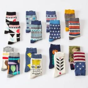5双装155款日系纯棉袜子男女中筒袜学生运动毛线袜