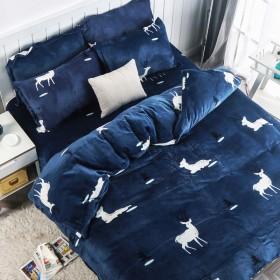 法莱绒单件被套学生保暖床单被罩冬季双人加厚加绒