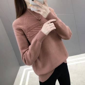 半高领毛衣女韩版秋冬针织衫打底衫