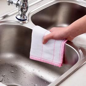 厨房不沾油洗碗布家用抹布清洁巾吸水不掉毛