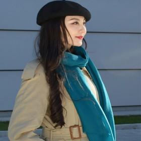 羊毛围巾女薄款春秋冬季
