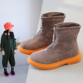 女童靴子2019年春秋季新款儿童时尚马丁靴小女孩中