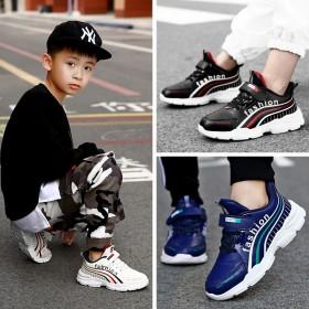 男童运动鞋2019新款秋款儿童鞋子皮面