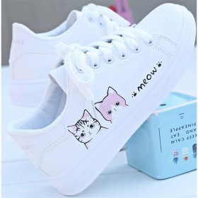 基础小白鞋女2019春秋季新款板鞋百搭皮面白鞋韩版