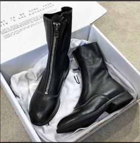 网红guidi靴女暗黑系复古女靴大码短靴子马丁靴女
