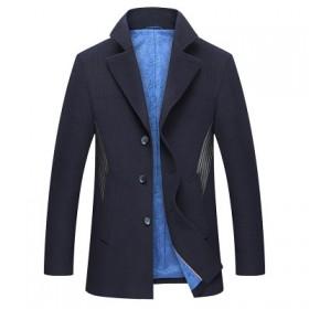 海澜之家品牌剪标毛呢大衣男外套潮夹克