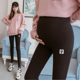 孕妇外穿打底裤秋季薄款棉托腹裤