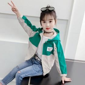 女童外套春秋秋装儿童韩版洋气中大童夹克