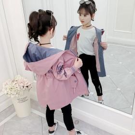 童装女童风衣韩版中长款儿童女洋气外套中大童春秋装夹
