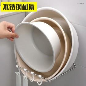 免打孔脸盆架壁挂浴室脸盆置物架卫生间毛巾脸盆收纳架