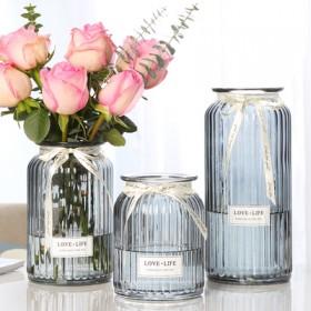 【三件套】玻璃干花透明花瓶