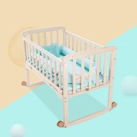 全新序言婴儿床实木环保无漆0-6岁拼接大床bb宝宝