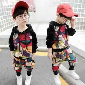 儿童套装男童春装2019新款运动两件套帅气男孩童装