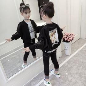 女童夹克外套春秋装2019新款短款超洋气中大儿童小