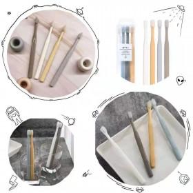 日式无印同款牙刷 成人小头软毛牙刷4支装家庭清洁装