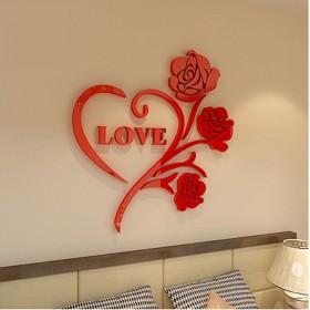 3D立体玫瑰墙贴