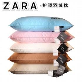 一对ZARA对装星级酒店软枕羽绒枕羽绒棉枕头全棉