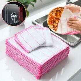 【10条洗碗布】厨房不掉毛不沾油百洁布