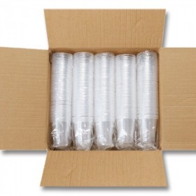 500只 一次性杯子塑料杯加厚航空杯茶水杯家用装