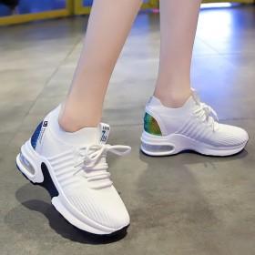 飞织女鞋2019秋季新款韩版学生运动鞋女百搭气垫内