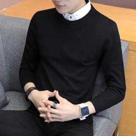 衬衫领毛衣男假两件针织衫【巨亏冲量】