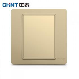 正泰家用空白面板装饰金色