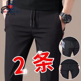 2条美国苹果秋冬休闲裤运动裤速干裤韩版修身哈伦裤男