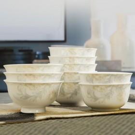 景德镇骨瓷饭碗家用吃饭碗 4.5英寸