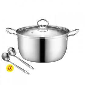 不锈钢锅加厚水煮锅蒸锅煮面煮奶小火锅电磁炉燃气通用