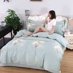 纯棉四件套全棉床单被套三件套简约床品学生床上用品