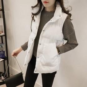 新款马甲女短款加厚保暖韩版宽松背心女秋冬羽绒棉服