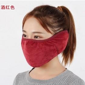 冬季骑车纯棉口罩男女防寒雾霾三合一防冻护脸耳罩