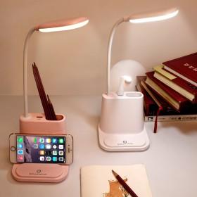 多功能笔筒台灯学生卧室触摸调光护眼时尚led夜灯