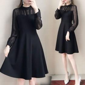 款收腰连衣裙胖mm大码女装200斤显瘦长袖裙子