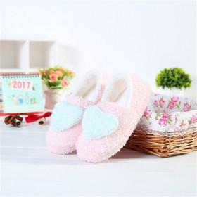 爱心月子鞋爱心包跟软底家居室内拖鞋无声防滑棉拖鞋