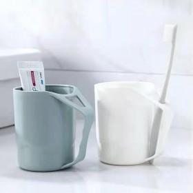 抖音邓论用天峻旺刷牙杯家用塑料漱口杯带手柄情侣牙缸