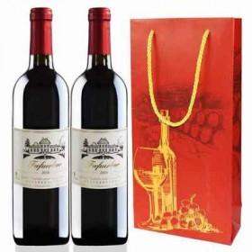 【法国进口】2支礼袋装法国干红酒