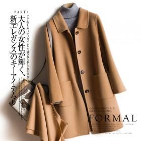 双面100%纯羊毛羊绒大衣女毛呢外套风衣